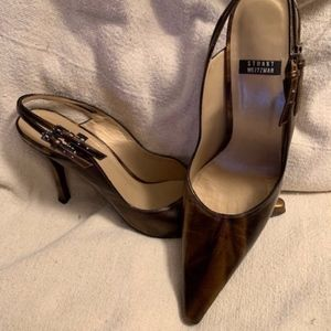STUART WEITZMAN SPIKES WITH SQUARE POINTED TOE